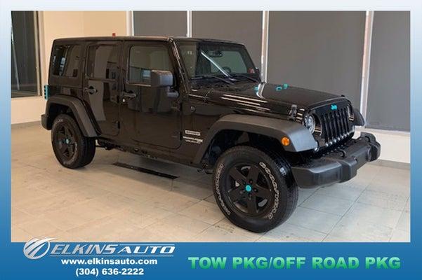 2018 Jeep Wrangler Jk Unlimited Sport S In Elkins Wv Charleston Jeep Wrangler Jk Unlimited Elkins Fordland